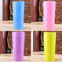 Wholesale 2015 NEW DIY Portable Double Layer Water Bottle Travel Office Tea Water Bottle ml