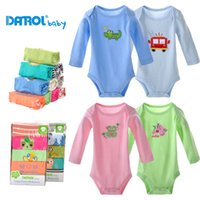 Wholesale 100 pure cotton baby long sleeve rompers for spring