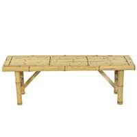 bench coffee table - Table Bench Patio Room Bar Outdoor Bamboo Bench Tiki Tropical Coffee