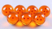 Wholesale 4 CM DragonBall Stars Crystal Ball Set of Dragon Ball Z Balls Complete Set New in Box sets