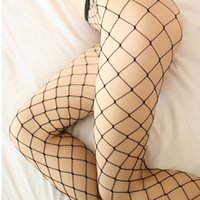 Wholesale Lady Sexy Breathable Elastic Lace Big Fishnet High Top Stocking Pantyhose