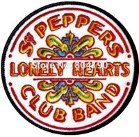 beatles sgt - 3 quot The Beatles Sgt Pepper s Lonely Hearts Club Band Music Band Woven Iron On Patch MOTIF APPLIQUE Punk Badge