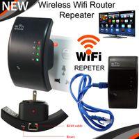 al por mayor buscadores de señal wifi-Wireless N Router Wifi Repetidor Booster amplificador de señal del transmisor Rango Extender 300 Mbps 802.11N / B / G Redes Wifi Finders