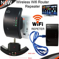 Wholesale Wireless N Wifi Router Repeater Booster Amplifier Transmitter Signal Range Extender Mbps N B G Networking Wifi Finders