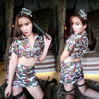 adult medieval costume - Sexy lingerie uniform temptation camouflage women to fission short skirt Summer s onesies for adults clown costume s for sale medieval cost