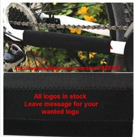 Wholesale ALL BLACK NO LOGO Bicycle Chain Protector Bike Stay chain Protection Cycling Chain Care Cloth Chain Protector cover