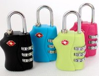 Wholesale DHL Customs Luggage Padlock TSA338 Resettable Digit Combination Padlock Suitcase Travel Lock TSA locks