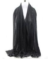 silk head scarves - 2015 Hot Sale glitter printe silk viscose shimmer long shawls head pashmina spring cotton hijab muslim scarves scarf Quality