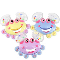 Wholesale Baby Kid Handbell Jingle Crab Design Shaking Rattle Toy Musical Instrument