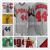 Unisex baseball career - 30 Teams New Reggie Jackson Jersey Of Career Retro Los Angeles Angels Oakland Athletics NYK Jerseys White Yellow Green Grey