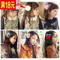 Cheap Wholesale dimensional plush rabbit ears ball hairpin children headdress baby girls hair accessories accessories hair accessories for childre