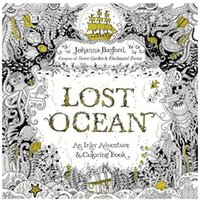 Wholesale Lost Ocean Secret Garden Inky Treasure Hunt and Coloring Book For Children Adult Relieve Stress Painting Drawing Book