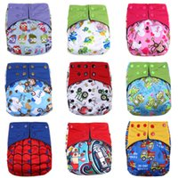 Wholesale 20pcs happy Flute cloth diaper newborn aio washable diaper reusable baby diapers training pants Waterproof Bamboo Charcoal Diaper HX