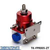 Wholesale Tansky High Quality JDM Adjustable High performance Injected Bypass Fuel Pressure Regulator AN6 AN6 RED Silver TK FPR005 ZT