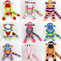 venda por atacado handmade toy-Handmade meias bebê brinquedos macaco 035 pelúcia boneca animal aniversário miúdo novo ano presente de Natal
