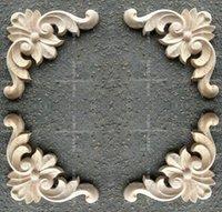 wood door - Fashion corners wood carved motif wood shavings smd furniture door cabinet door applique dongyang wood carving