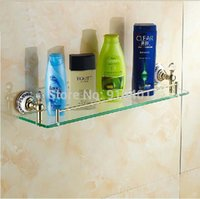 Wholesale Hot Sale And Retail Promotion Crystal Wall Mounted Golden Brass Bathroom Shelf Shower Caddy Cosmetic Storage