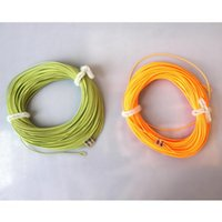 Wholesale 1X FLY FISHING ft floating FLY LINES for rod reel welded loops moss green orange