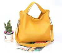 brand name handbag - Fashion women handbag genuine leather high quality real cow leather brand name handbags candy color women tote shoulder bag