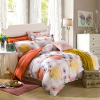 bedding country quilt - Fashion Floral bedclothes queen king twin full size duvet quilt comforter cover sheet pillowcase pc bedding set Cotton
