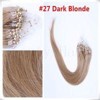 Wholesale silk straight micro ring hair extensions grade A remy human peruvian micro loop hair g s g s