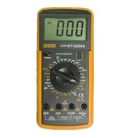 big current - 3 Digits Display Big LCD Screen Electric Handheld HZ Tester Temperature Frequency Current Meter Digital multimeter DT9208A