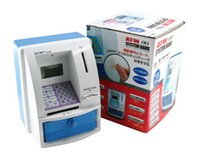 Wholesale FreeShipping Educational toys ATM saving box piggy bank