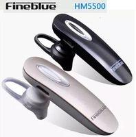 Wholesale New Original Fineblue HM5500 stereo Bluetooth Headset wireless Bluetooth music headphone earphone