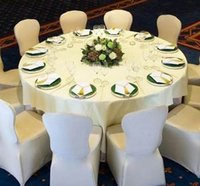 Wholesale 1pcs Cheap White Chair Cover Spandex Plyest Not Including Sash Chair Cover Wedding Banquet
