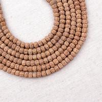Wholesale Natural Rudraksha Tibetan Mala Beads Buddha Mediation Prayer Beads Rosary x8mm strand