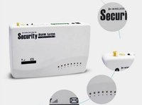 Wholesale 850 Wireless GSM SMS Home Security Burglar Voice PIR Alarm System Remote Control Setting Arm Disarm