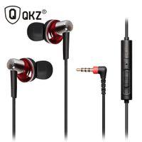 bass pod - QKZ POD Phrodi Bass Headphones With Microphone Volume Control Copper Forging MM Shocking Antinoise Earphone Sound Quality