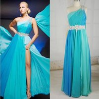 Wholesale New Arrival Sexy Tony Bowl prom dresses sexy long evening dresses one shoulder chiffon party gowns custom made
