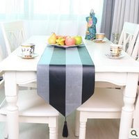 Wholesale European high end table runners black and gray table flag modern minimalist style tablecloths