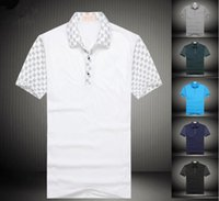 summer polo shirts - New summer style t shirts CUCCI fashion turn down collar tees polos modal men s apparel