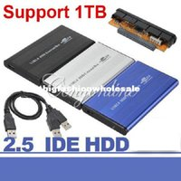 hd ide - 3 Color USB Inch pin IDE HD Hard Disk Drive HDD External Case Enclosure Box For Mac OS Notebook Laptop PC