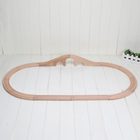 arch bridges - 20sets set Train Wooden Track Railway Hole Arch Bridge Track straight curved tracks