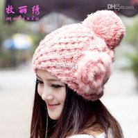 assorted winter hat - new fashion winter warm bomber hats beanies with lovely rabbit flower colors assorted
