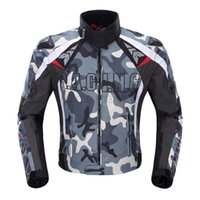 Wholesale DUHAN Men s Oxford Cloth Motocross Off Road Racing Jacket Guards Clothing Camouflage Motorcycle Alloy Shoulder Protector Jacket