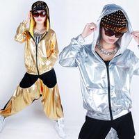 Nouveau unisexe Costumes Danse Jazz Hip-hop Vêtements Sweatshirt à capuche Définit femmes Men Performance Vêtements Tops salebags Pantalons UA0136