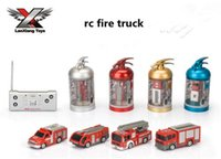Cheap 1:63 Scale 4CH RC Fire Truck Scale Mdoels Brinquedos Carros rc Toy Trucks for kids toy cars