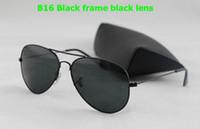 2017 DORP que envía el nuevo marco gris del diseñador de los vidrios de Sun de las mujeres del Mens / las lentes verdes de la lente Las gafas de sol atan los vidrios de sol 58m m / 62m m con la caja original.