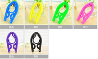 Wholesale Travel Space Saving Wardrobe Portable Cloth Hanger Foldable Fold Hang Plastic Hook Mix Colors Plastic Coat Hangers