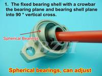 alloy flange - 20 mm caliber Zinc Alloy Miniature Bearings pedestal KFL004 UCFL004 FL004 diamond flange bearings pedestal