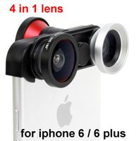 arrival phone len - New Arrival mobile phone in degree front fish eye Fisheye Lens Macro Len Wide angle Lens for iphone or plus