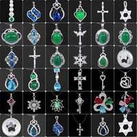 Wholesale Cheap Charming Statement Pendants Necklaces Solid Sterling Silver Gemstone Women Jewelry Wedding Party Gift Mix Styles Choose SD50 YBLH