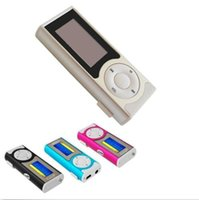 mini sd memory card - Mini Clip MP3 Sport Music player With LCD Screen Support Micro TF SD Memory Card USB Cables Earphones Come With Crystal Retail Boxes DHL