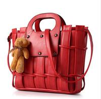 bears navy brand - Luxury handbags brand women bags Teddy Bears Thread designer new women leather tote bag messenger bags handbags bolsas feminina