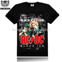 ac dc black ice - w1215 Summer Style Fashion Rocksir Men T Shirt D T Shirt Tshirt Men s Shirt Cotton AC DC Black Ice Print Hard Rock Hip Hop