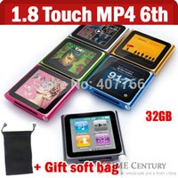 Wholesale 32GB Inch rd gen mp4 player touch screen mp4 player gif soft bag gb th mp4 player fashionable clip mp4 player FM radio